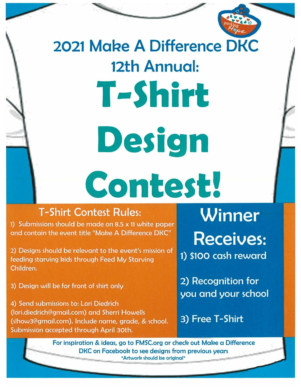 Feed My Starving Children T-Shirt Design Contest Poster